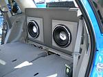 "10"" speakers mounted behind back seats' RTTB #12"
