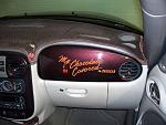 """Custom passenger side air bag cover graphics on """"My Chocolate Covered Cruiser"""""""
