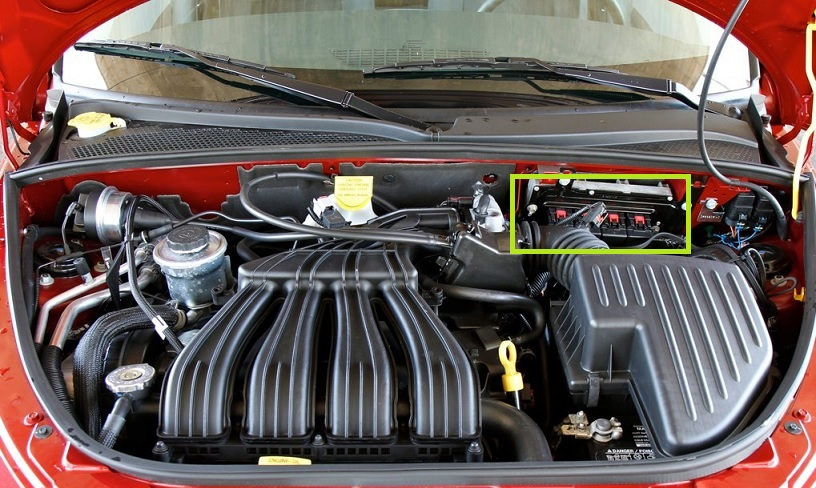 StrutBar24 ecm location pt cruiser forum 2001 pt cruiser pcm wiring diagram at reclaimingppi.co