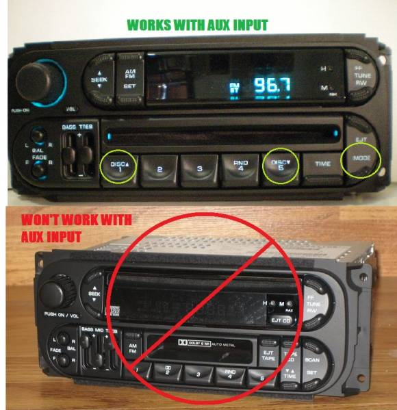 Correct 1st Gen Stereo for Aux Input - PT Cruiser Gallery