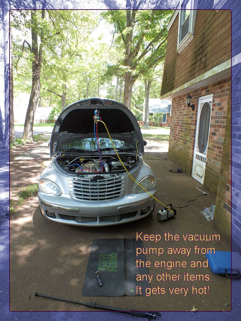 HOW TO VACUUM DOWN & CHARGE YOUR A/C SYSTEM - PT Cruiser Forum
